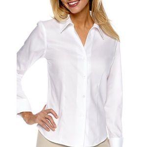 Calvin Klein women's top shirt blouse white 10